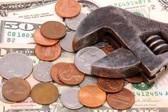 Gagner l'argent photo libre de droits