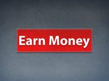 Gagnez à argent le fond rouge d'abrégé sur bannière illustration stock