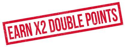 Gagnez à X2 le tampon en caoutchouc de doubles points illustration stock