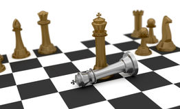 Gagnez et détruisez les échecs Photographie stock libre de droits