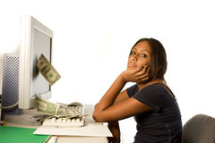 Gagnez l'argent à partir de l'Internet Images stock