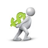 Gagnez l'argent Photographie stock libre de droits