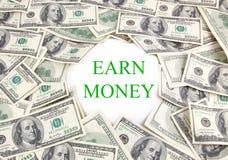 Gagnez l'argent Photographie stock