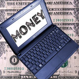gagnez l'argent en ligne Image libre de droits