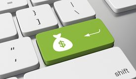 Gagnez l'argent en ligne illustration stock