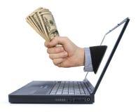 Gagnez l'argent à partir de la maison Image stock