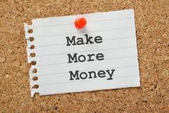 Gagnez plus d'argent Photos stock