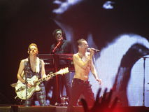戴维Gahan和李柱铭戈尔, Depeche方式 库存照片