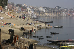 gaht ind narad Varanasi Zdjęcia Stock