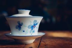 Chinese-style ceramics Teacup — Gai bowl tea stock photography
