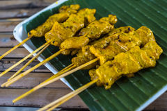 Gai Galae, chicken skewers, Thailand street food Royalty Free Stock Photography