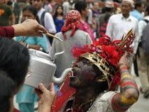 Gai Jatra (The festival of Cows) royalty free stock image