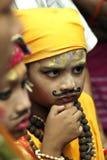 Gai Jatra festivalen av kor Arkivbilder