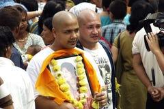 Gai Jatra (het festival van Koeien) Stock Foto's