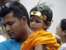 Gai Jatra (il festival delle mucche) Fotografie Stock
