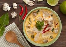 Gai tailandés del kha de tom foto de archivo libre de regalías