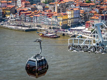 Gaia Cable Car a Oporto, Portogallo Fotografie Stock