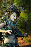 Gaia - earth goddess. Salir of Time is the name of an initiative taking place in September that parish Loulé. It is the return to the thirteenth century, where Stock Photos