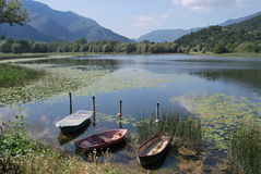 Gaiano lake Stock Photo