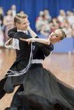 Gaidyuk Aleksandr and Zhuk Yana Perform Youth-2 Standard Program on National Championship Stock Images