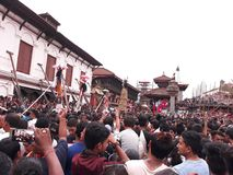 Gaijatra, Bhaktapur foto de archivo