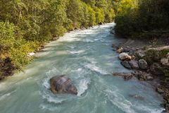 Gail River in Western Carinthia, Austria Royalty Free Stock Photography