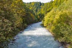 Gail River in Western Carinthia, Austria Stock Images