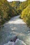 Gail River in Western Carinthia, Austria Royalty Free Stock Photo