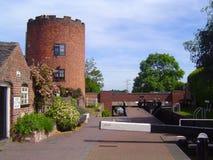 Gailey hamnplats, Staffordshire arkivbild
