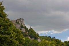 城堡gaillard 库存照片