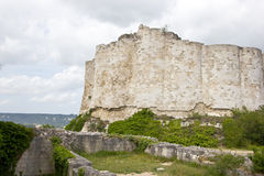 Gaillard Castle remains. The ruins of the Richard Lion Heart castle, in Le Petit Andely, Normandy, France Stock Photography