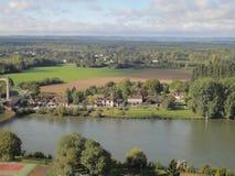 Gaillard-Schloss, Frankreich Stockbild