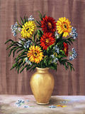 Gaillardia in a ceramic jug Royalty Free Stock Photography