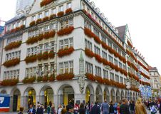Gaily Decoated Munich Building Royalty Free Stock Photo