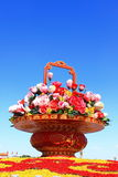 Gaily decorated basket Stock Photo