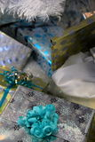 Gaily wrapped Christmas presents Royalty Free Stock Photography