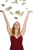 Gain de la pile d'argent comptant Photographie stock libre de droits