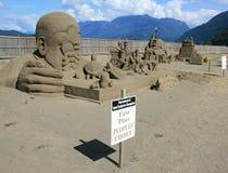 gain de sculpture en sable Photographie stock libre de droits
