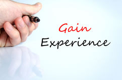 Gain Experience Concept. Over White Background Stock Photos