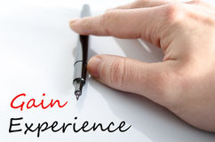 Gain Experience Concept. Over White Background Royalty Free Stock Image