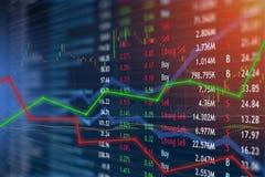 Gain financier et bénéfices de concept d'investissement et de marché boursier avec les diagrammes fanés de chandelier photo stock