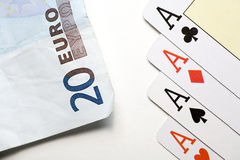 Gain from the poker Royalty Free Stock Photography