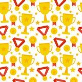 Gain sans couture plat de trophée de compétition sportive de modèle Image stock