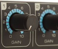 Gain volume fader Stock Photography