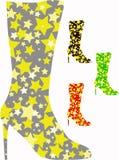 Gaines de genou avec des étoiles Illustration de Vecteur