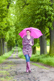 Gaines en caoutchouc s'usantes de femme Image stock