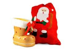 Gaines et sacs de Noël pour des cadeaux Image libre de droits