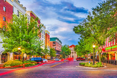 Gainesville, Florida, USA. Downtown cityscape royalty free stock photos