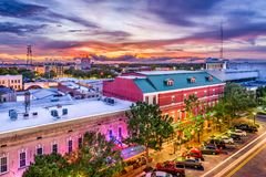 Gainesville, Florida, USA. Downtown cityscape royalty free stock photo