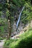 Gainfeld瀑布(在比绍夫斯霍芬,奥地利) 免版税库存照片
